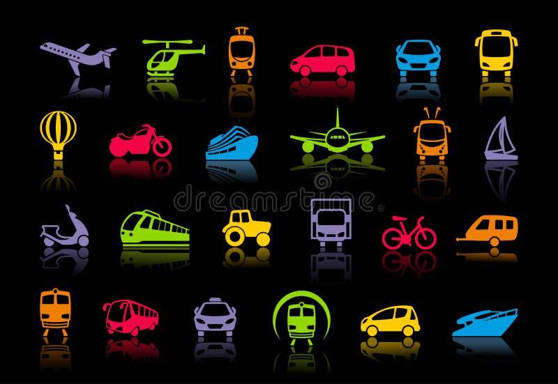 Εικονίδια μεταφορών επίσης corel σύρετε το διάνυσμα απεικόνισης διανυσματική απεικόνιση
