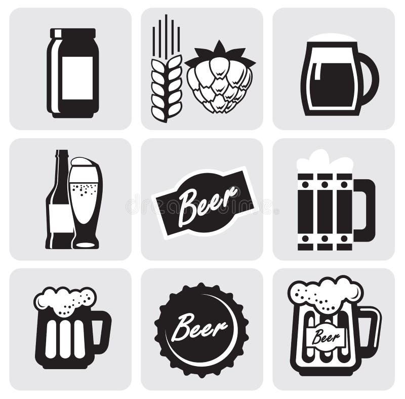 εικονίδια μπύρας ελεύθερη απεικόνιση δικαιώματος