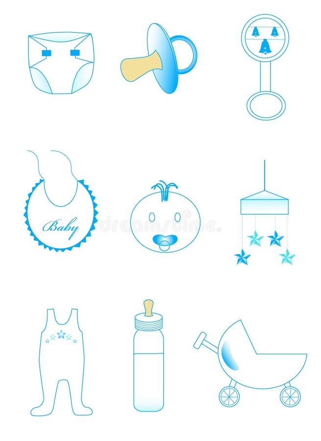 εικονίδια μωρών απεικόνιση αποθεμάτων