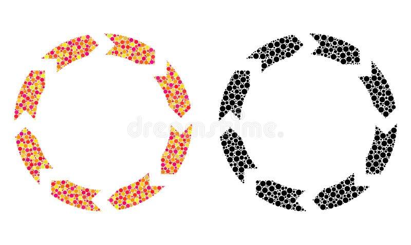 Εικονίδια μωσαϊκών κυκλοφορίας εικονοκυττάρου διανυσματική απεικόνιση