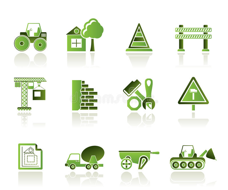εικονίδια οικοδόμησης &kap διανυσματική απεικόνιση