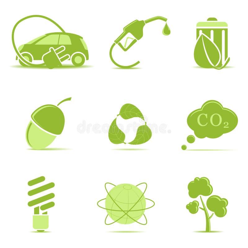εικονίδια οικολογίας απεικόνιση αποθεμάτων