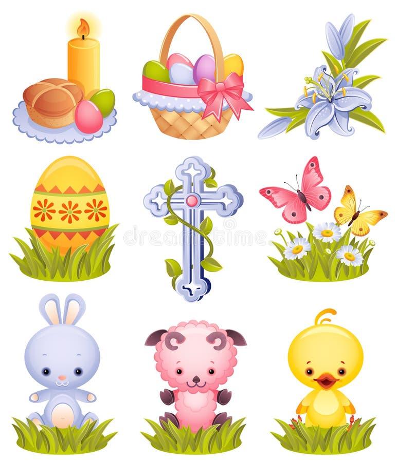 εικονίδια Πάσχας απεικόνιση αποθεμάτων