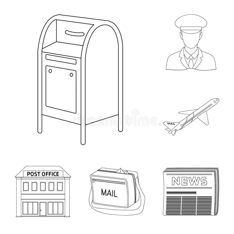 Εικονίδια περιλήψεων ταχυδρομείου και ταχυδρόμων στην καθορισμένη συλλογή για το σχέδιο Διανυσματική απεικόνιση Ιστού αποθεμάτων  ελεύθερη απεικόνιση δικαιώματος