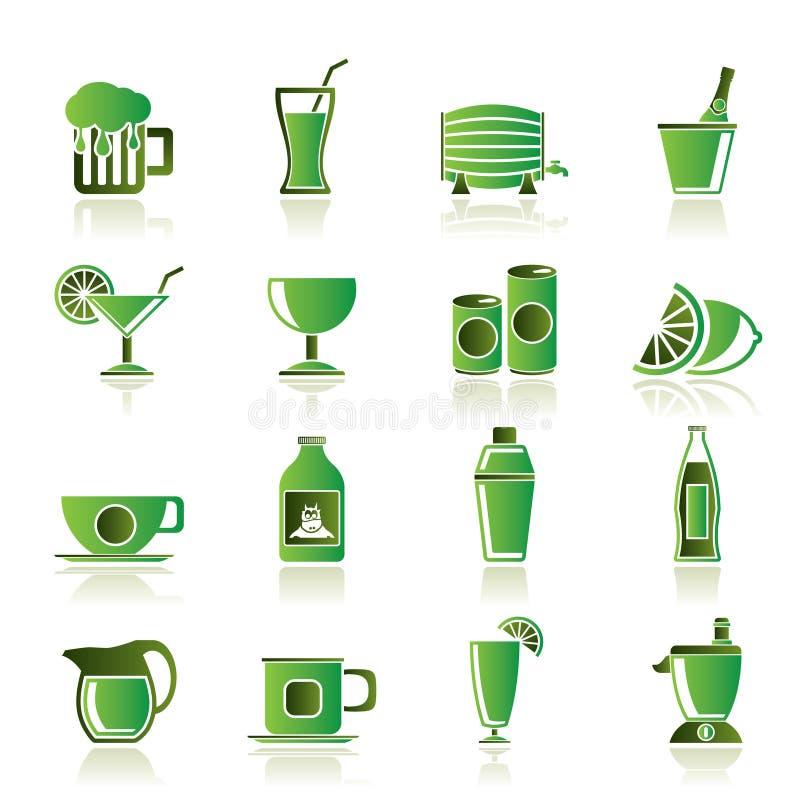εικονίδια ποτών ποτών απεικόνιση αποθεμάτων
