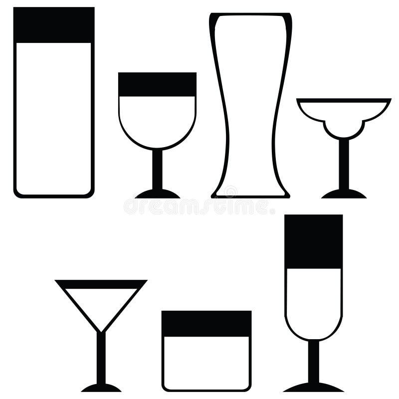 εικονίδια ποτών διανυσματική απεικόνιση