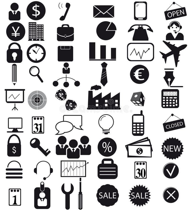 Εικονίδια που τίθενται επιχειρησιακά ελεύθερη απεικόνιση δικαιώματος
