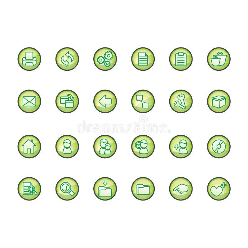 Download εικονίδια που τίθενται απεικόνιση αποθεμάτων. εικόνα από κουμπιά - 103334