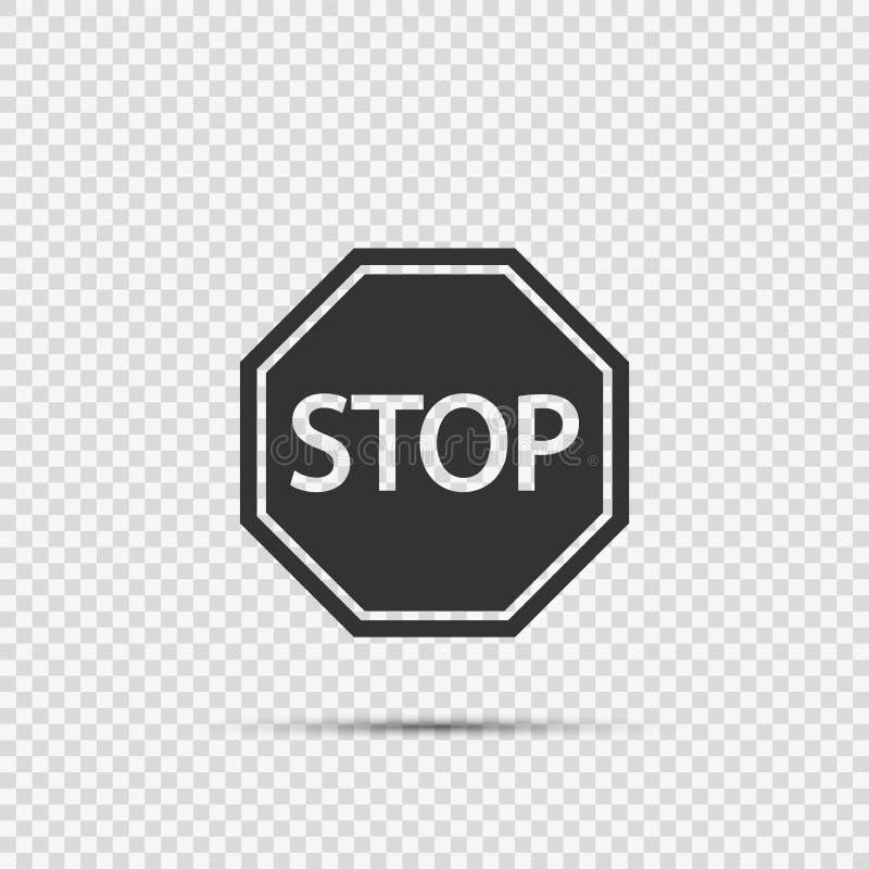 Εικονίδια σημαδιών στάσεων στο διαφανές υπόβαθρο διανυσματική απεικόνιση