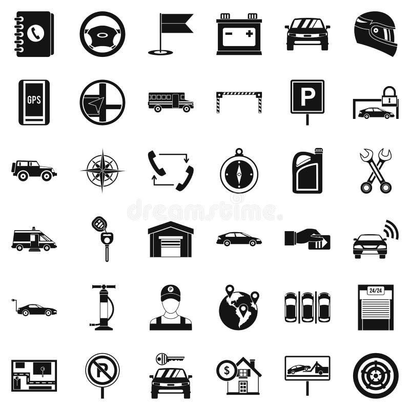 Εικονίδια συντήρησης καθορισμένα, απλό ύφος απεικόνιση αποθεμάτων