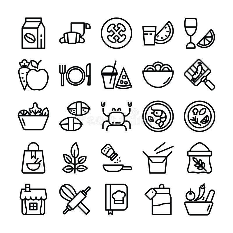 Εικονίδια συστατικών τροφίμων στοκ εικόνα με δικαίωμα ελεύθερης χρήσης