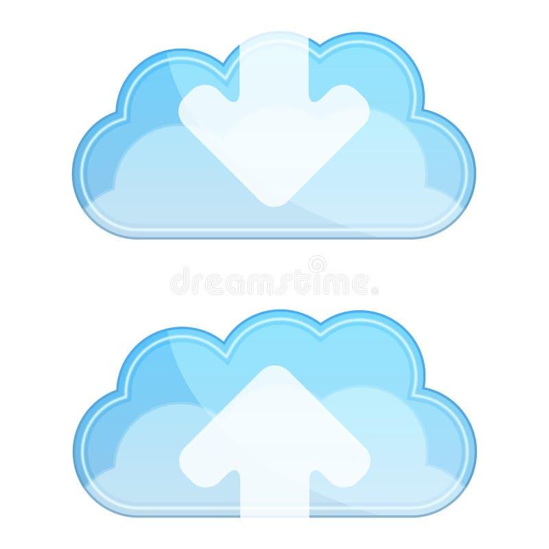 Εικονίδια σύννεφων διανυσματική απεικόνιση
