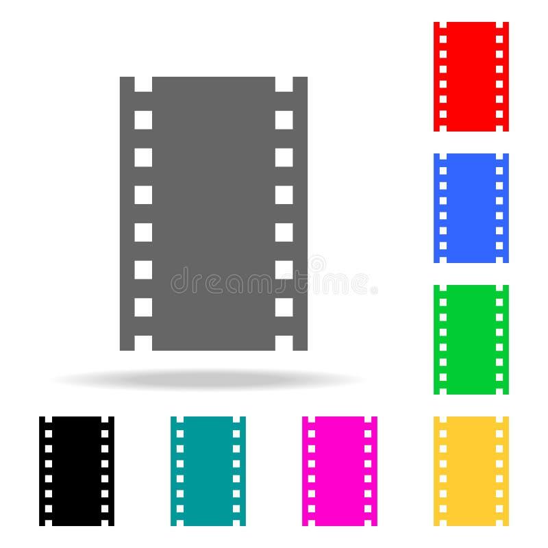 Εικονίδια ταινιών ή μέσων Στοιχεία στα πολυ χρωματισμένα εικονίδια για την κινητούς έννοια και τον Ιστό apps Εικονίδια για το σχέ ελεύθερη απεικόνιση δικαιώματος