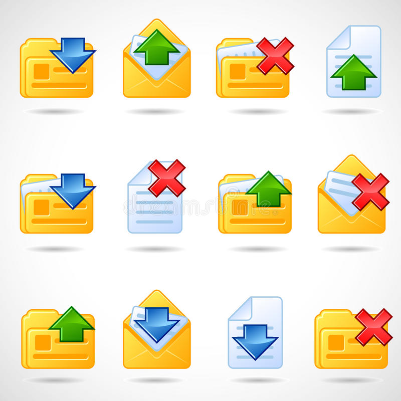 Download εικονίδια ταχυδρομικά διανυσματική απεικόνιση. εικονογραφία από γκρίζος - 13183122