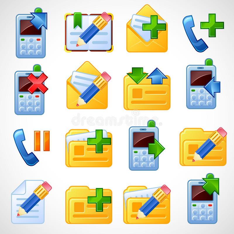Download εικονίδια ταχυδρομικό set2 διανυσματική απεικόνιση. εικονογραφία από σχέδιο - 13183118
