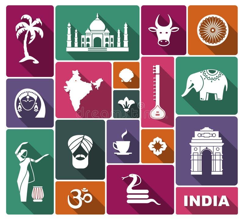 Εικονίδια της Ινδίας ελεύθερη απεικόνιση δικαιώματος