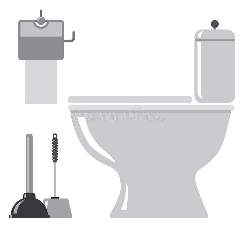 Εικονίδια τουαλετών WC διανυσματική απεικόνιση