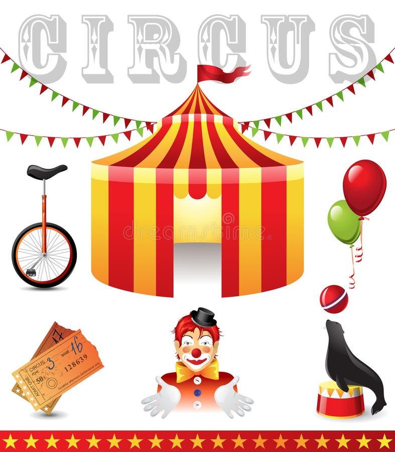 Εικονίδια τσίρκων διανυσματική απεικόνιση