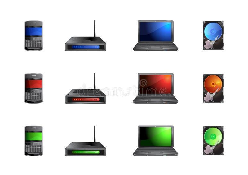 Εικονίδια υπολογιστών απεικόνιση αποθεμάτων