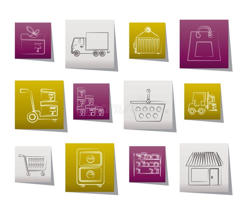 εικονίδια φορτίου που &sigma απεικόνιση αποθεμάτων