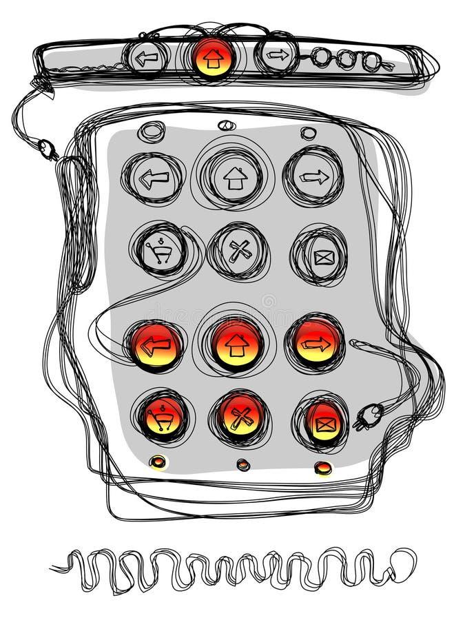 εικονίδια χάκερ κουμπιών ελεύθερη απεικόνιση δικαιώματος