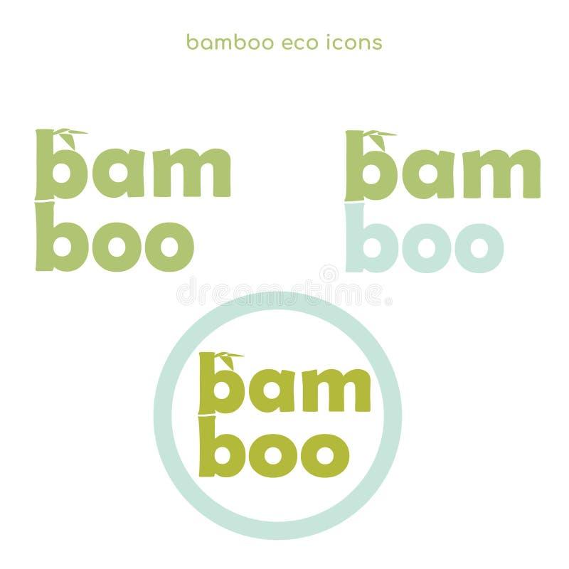 Εικονίδια eco μπαμπού ελεύθερη απεικόνιση δικαιώματος