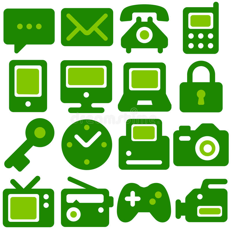 Εικονίδια Eco ελεύθερη απεικόνιση δικαιώματος