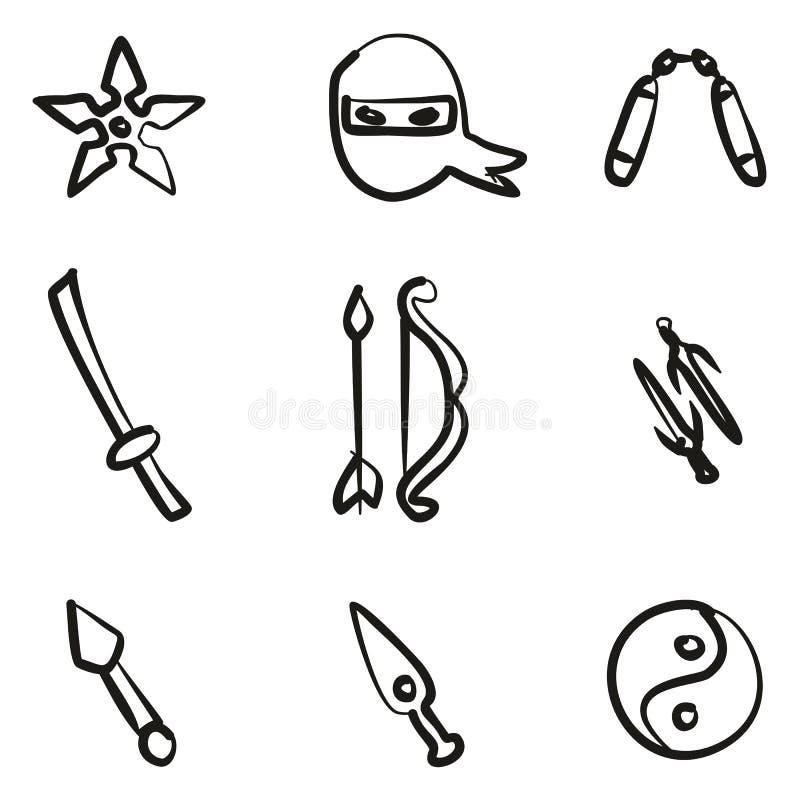 Εικονίδια Ninja ελεύθερα απεικόνιση αποθεμάτων