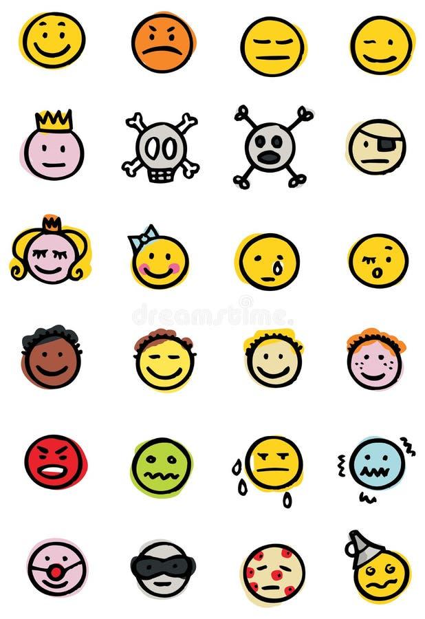 εικονίδια smiley ελεύθερη απεικόνιση δικαιώματος