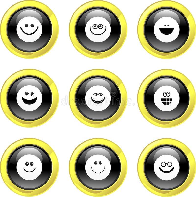 εικονίδια smilie απεικόνιση αποθεμάτων