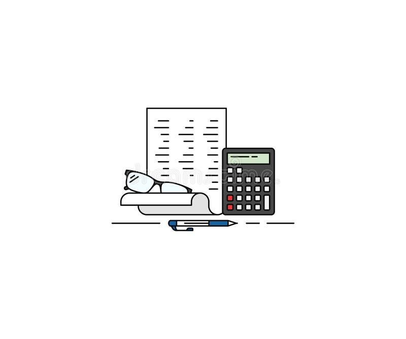 Εικονίδιο έννοιας λογιστικής Διανυσματικό σχέδιο γραμμών λογιστικής διανυσματική απεικόνιση