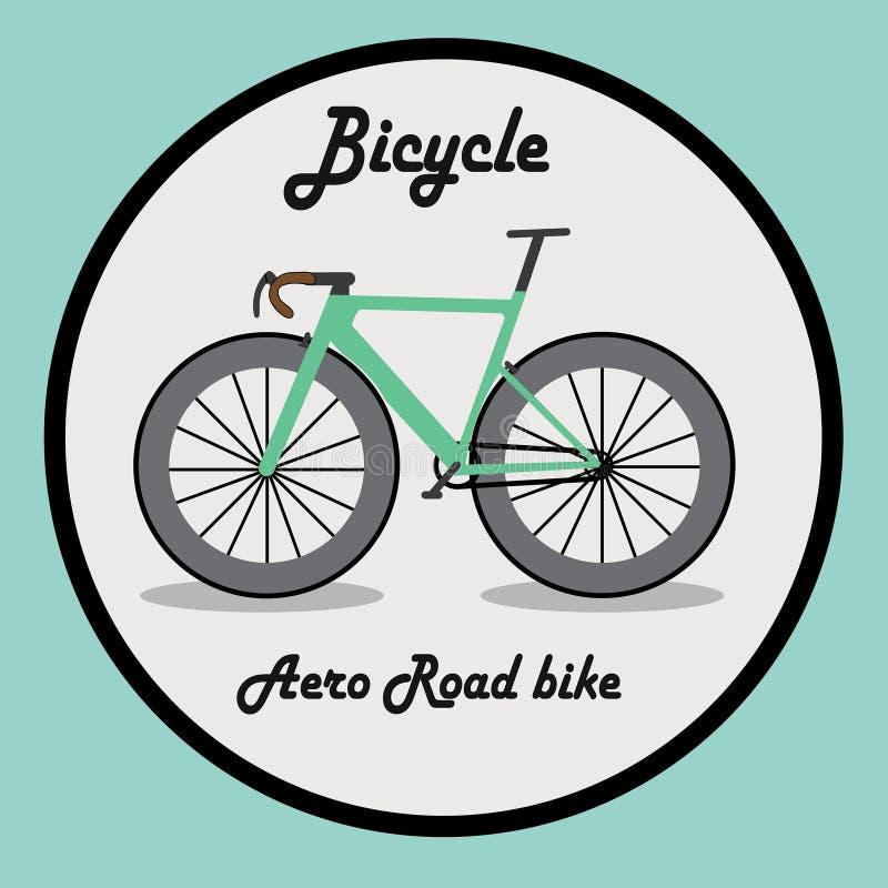 Εικονίδιο ή σημάδι ποδηλάτων να ενεργήσει κινούμενων σχεδίων διανυσματική απεικόνιση