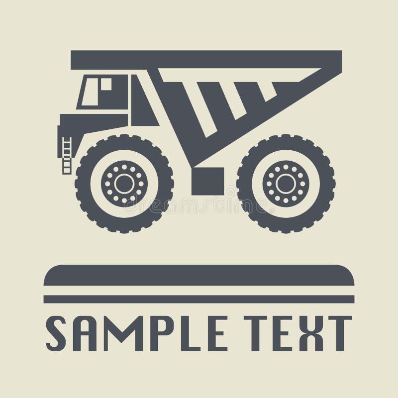 Εικονίδιο ή σημάδι φορτηγών απορρίψεων ελεύθερη απεικόνιση δικαιώματος