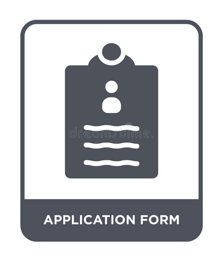 εικονίδιο αίτησης υποψηφιότητας στο καθιερώνον τη μόδα ύφος σχεδίου Εικονίδιο αίτησης υποψηφιότητας που απομονώνεται στο άσπρο υπ διανυσματική απεικόνιση