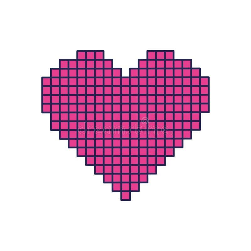 Εικονίδιο αγάπης καρδιών Pixelate διανυσματική απεικόνιση