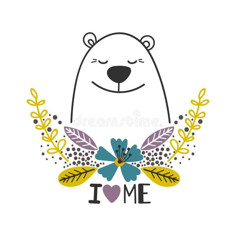 Εικονίδιο αγάπης οι ίδιοι με τη πολική αρκούδα ελεύθερη απεικόνιση δικαιώματος
