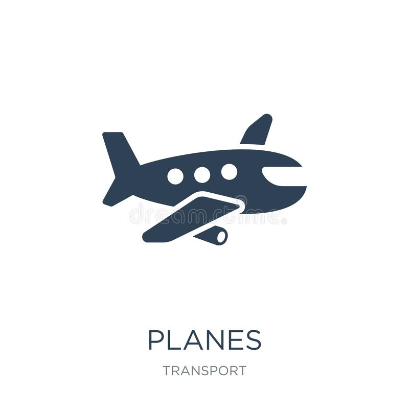 εικονίδιο αεροπλάνων στο καθιερώνον τη μόδα ύφος σχεδίου εικονίδιο αεροπλάνων που απομονώνεται στο άσπρο υπόβαθρο απλό και σύγχρο απεικόνιση αποθεμάτων