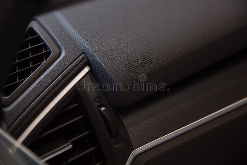 Εικονίδιο αερόσακων στο αυτοκίνητο στοκ φωτογραφίες