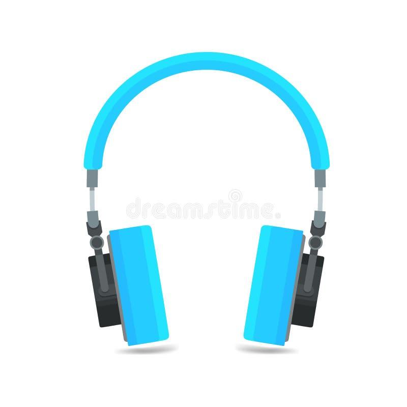 Εικονίδιο ακουστικών, επίπεδη απεικόνιση μουσικής σχεδίου υγιής, εξοπλισμός μουσικής ελεύθερη απεικόνιση δικαιώματος