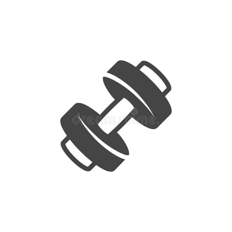Εικονίδιο αλτήρων glyph Ετικέτα για το αθλητικό κατάστημα, γυμναστική, κατηγορία ικανότητας, αθλητική κατάρτιση Υγιής τρόπος ζωής απεικόνιση αποθεμάτων