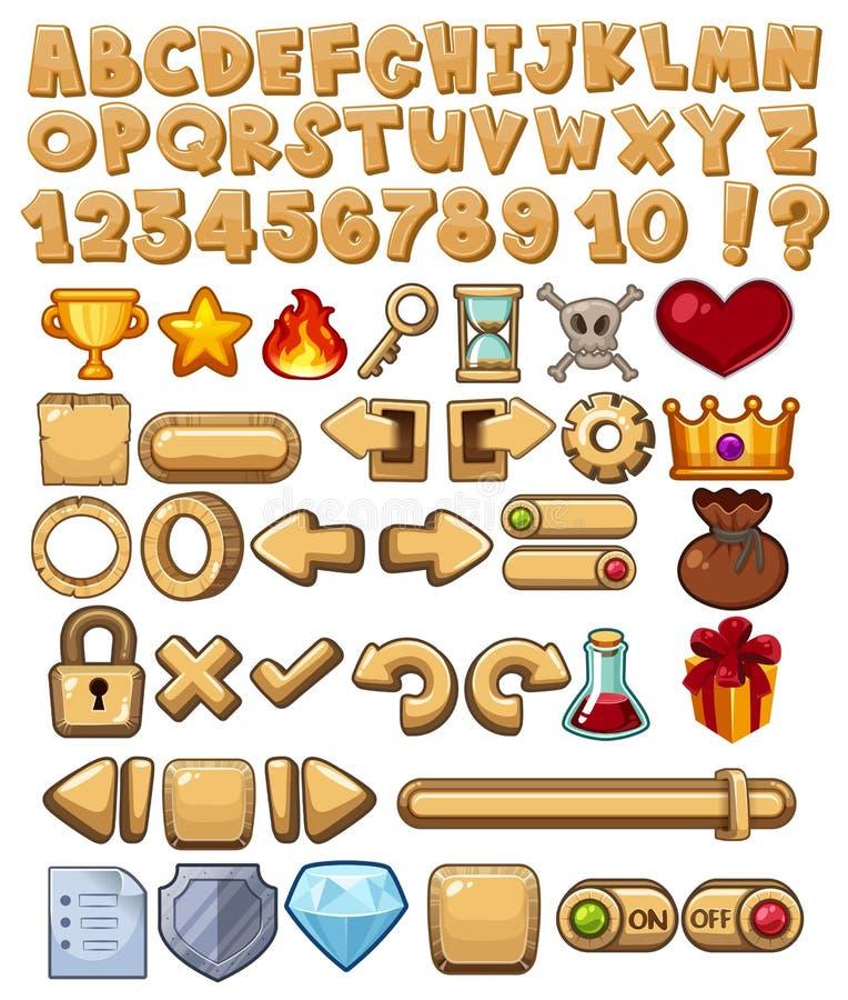 Εικονίδιο αλφάβητου και παιχνιδιών διανυσματική απεικόνιση