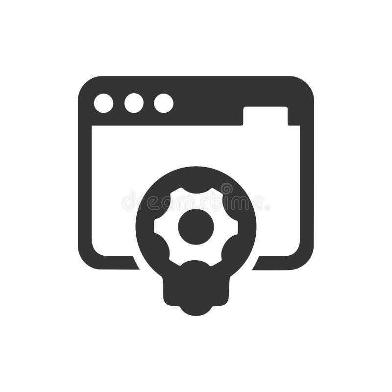 Εικονίδιο ανάπτυξης ιστοχώρου απεικόνιση αποθεμάτων