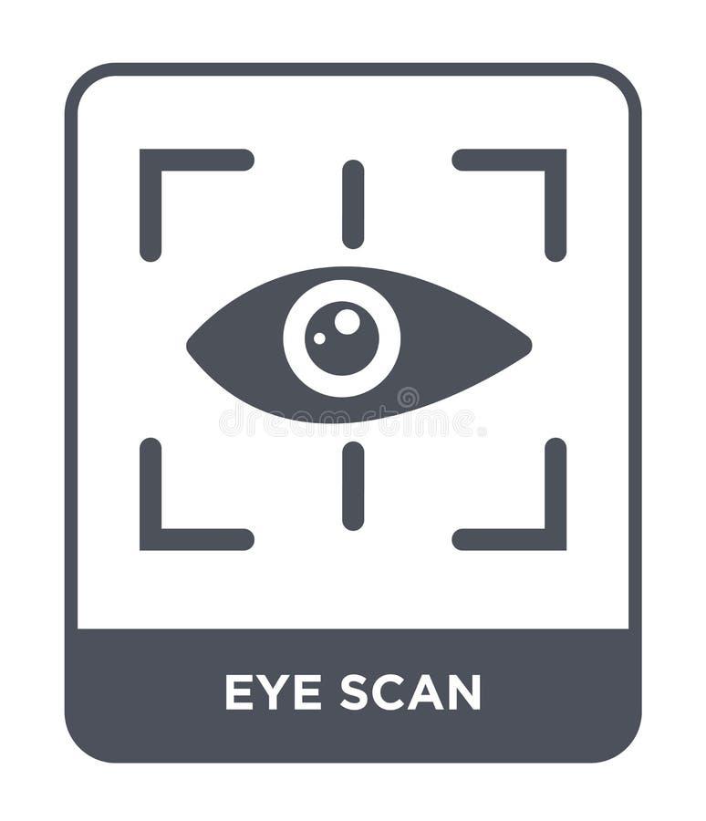 εικονίδιο ανίχνευσης ματιών στο καθιερώνον τη μόδα ύφος σχεδίου εικονίδιο ανίχνευσης ματιών που απομονώνεται στο άσπρο υπόβαθρο μ διανυσματική απεικόνιση