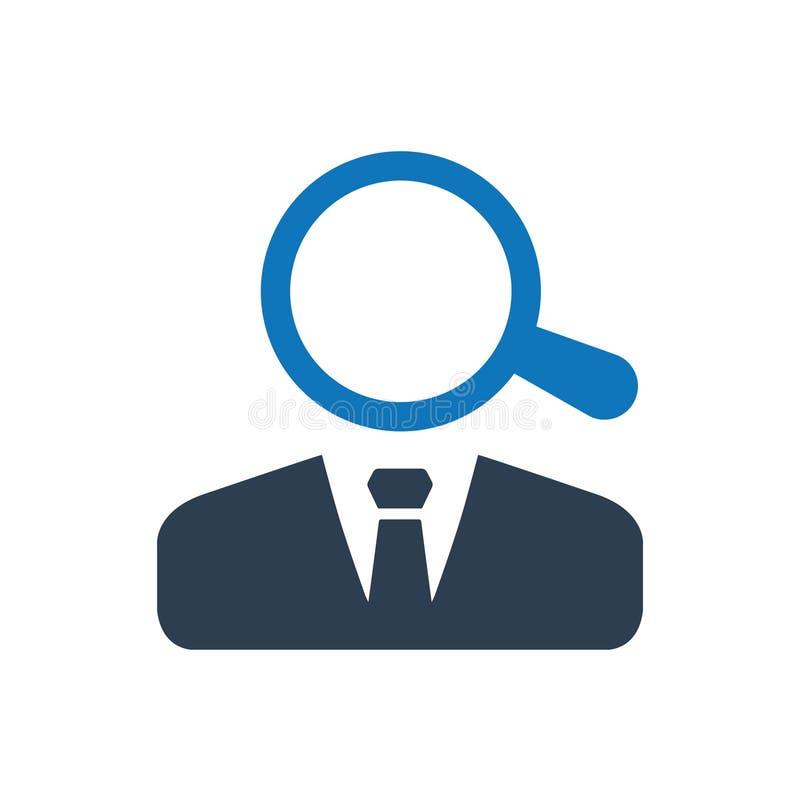 Εικονίδιο αναζήτησης εργασίας απεικόνιση αποθεμάτων