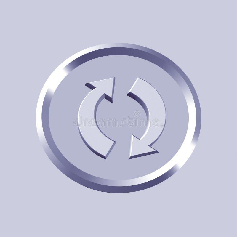 Download εικονίδιο ανακύκλωσης απεικόνιση αποθεμάτων. εικονογραφία από απεικόνιση - 1532093
