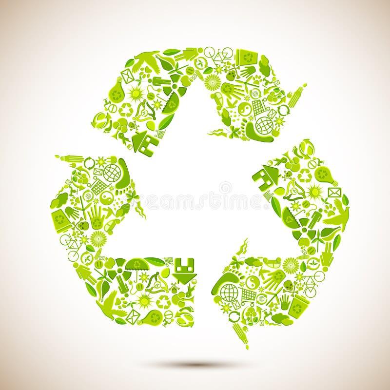 εικονίδιο ανακύκλωσης απεικόνιση αποθεμάτων