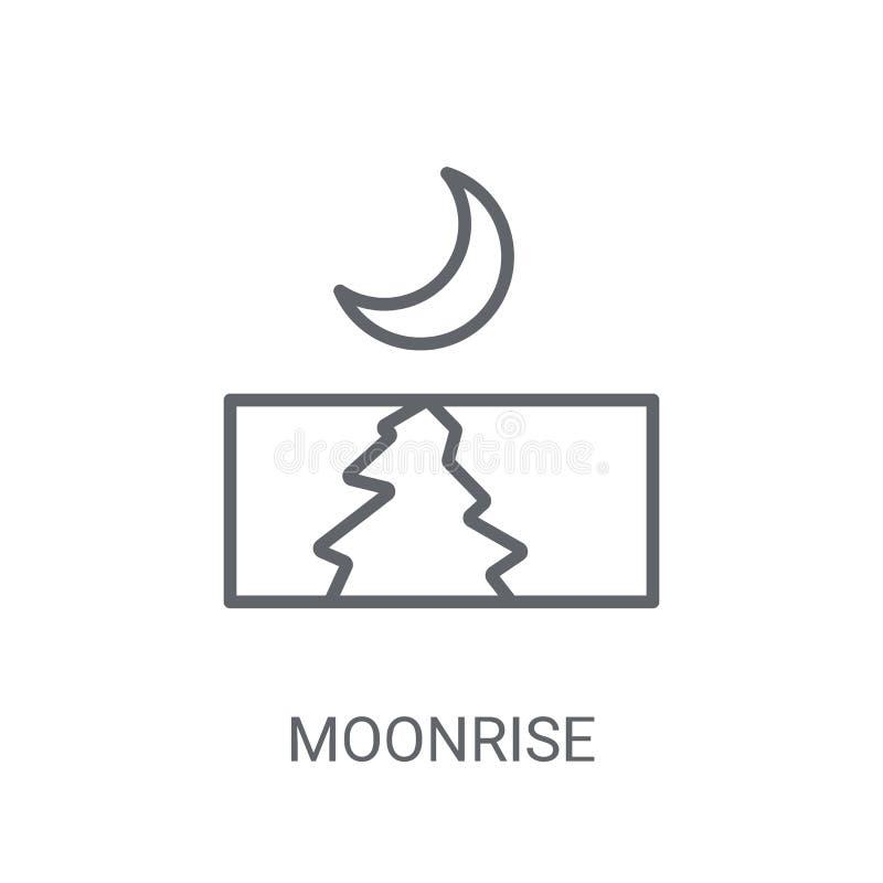 Εικονίδιο ανατολής του φεγγαριού Καθιερώνουσα τη μόδα έννοια λογότυπων ανατολής του φεγγαριού στο άσπρο υπόβαθρο διανυσματική απεικόνιση