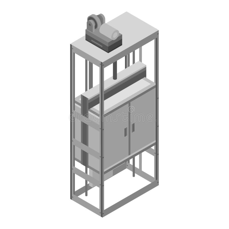 Εικονίδιο ανελκυστήρων σπιτιών πόλεων, isometric ύφος ελεύθερη απεικόνιση δικαιώματος