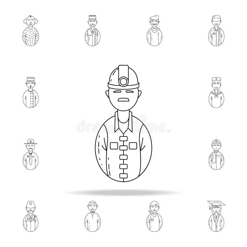 εικονίδιο ανθρακωρύχων ειδώλων Καθολικό εικονιδίων ειδώλων που τίθεται για τον Ιστό και κινητό απεικόνιση αποθεμάτων