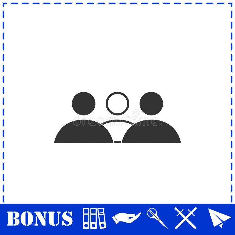 Εικονίδιο ανθρώπων ομάδας επίπεδο διανυσματική απεικόνιση